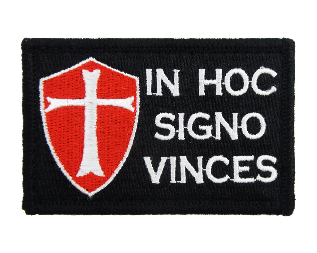 Templar In Hoc Signo Vinces Tactical Velcro Fully Embroidered Morale Tags Patch