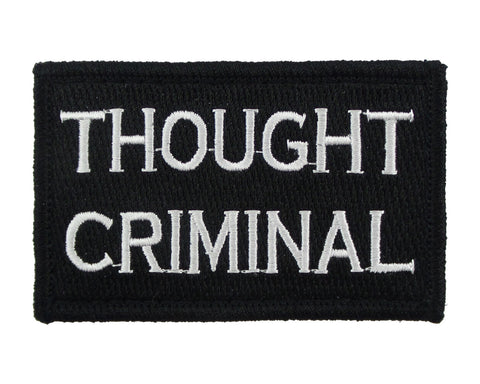 Thought Criminal Tactical Velcro Fully Embroidered Morale Tags Patch
