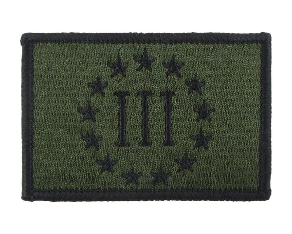 Three Percent Threeper Embroidered Velcro Morale Patch