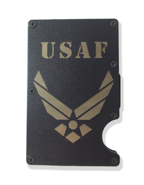 Air Force Wallet Custom Engraved RFID Blocking Thin Card Organizer w/ Money Clip