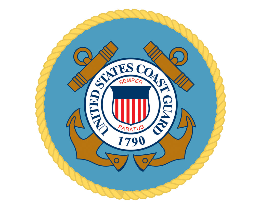 "Coast Guard Emblem USCG Logo Vinyl Decal Sticker for Cars Trucks Laptops etc. 5"" Round"