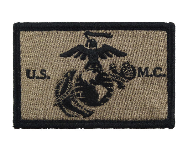 USMC EGA United States Marine Corps Tactical Velcro Fully Embroidered Morale Tags Patch