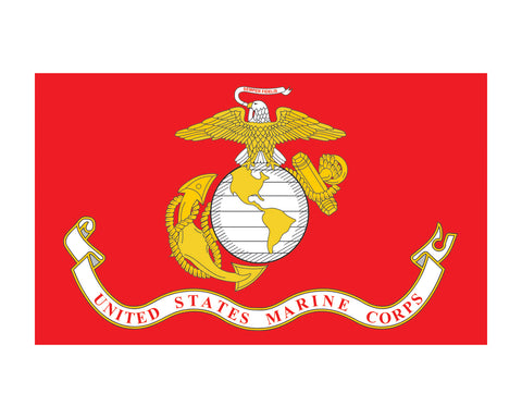 Marine Corps Flag USMC 3x5 Vinyl Decal Sticker for Cars Trucks Laptops etc...