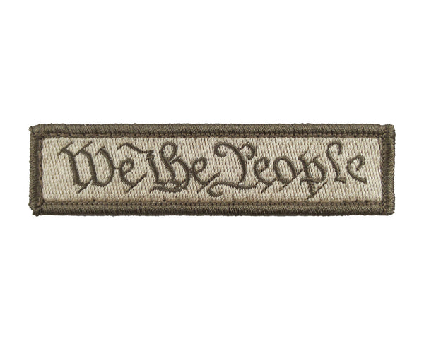 We The People Tactical Velcro Fully Embroidered Morale Tags Patch 1 x 4