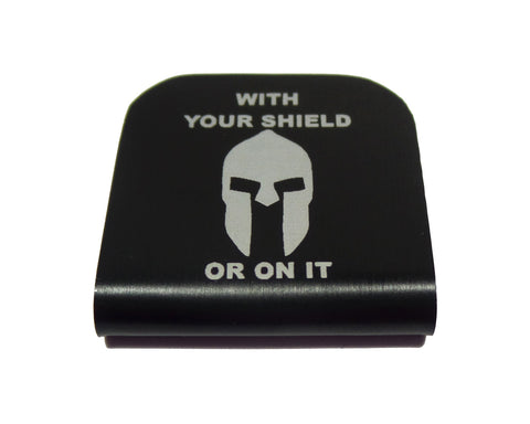 With Your Shield or On It Spartan Hat Clip