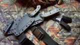 SXB SKULLCRUSHER'S X-TREME BLADE IN CAMO WITH SERRATIONS - CUSTOM SHEATH - T2 - NANO XL