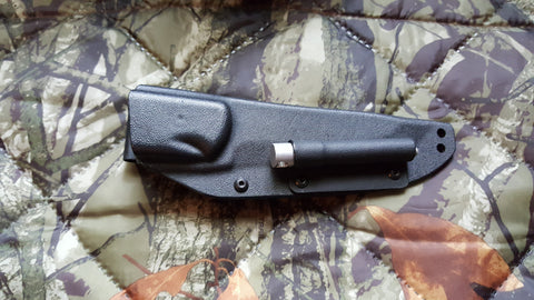 BOB BLACK KYDEX SHEATH WITH FIRE ROD