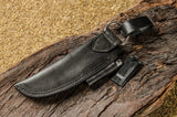 BUSHCRAFT LEATHER SHEATH-BLACK