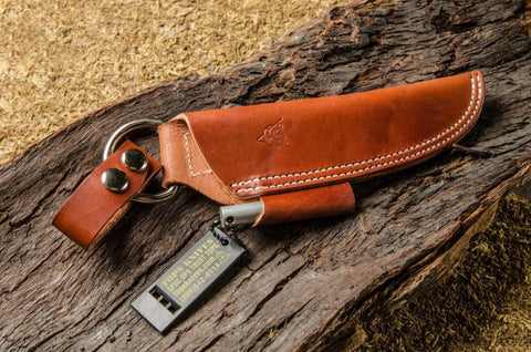 BUSHCRAFT LEATHER SHEATH - BROWN