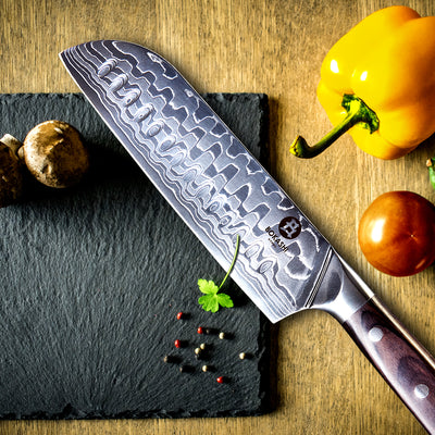 Bokashi Steel Kasai 4 Piece Professional Damascus Chefs Knife Set