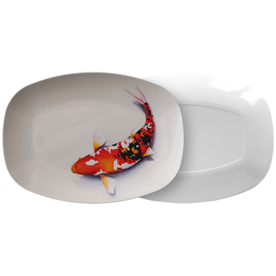 "Limited Edition Japanese Kio Fish by Bokashi Steel - Premium 10x14"" Serving Platter"