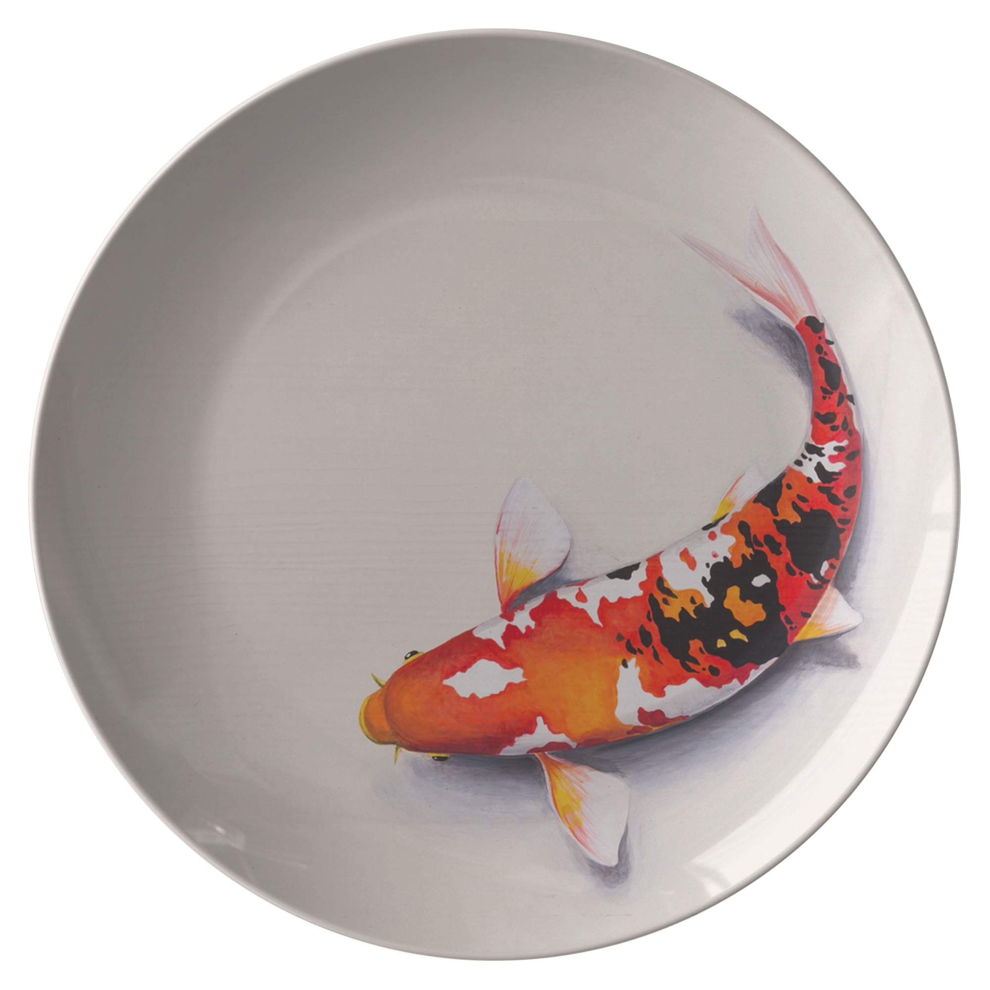 "Limited Edition Japanese Kio Fish by Bokashi Steel - Premium 10"" Plate"