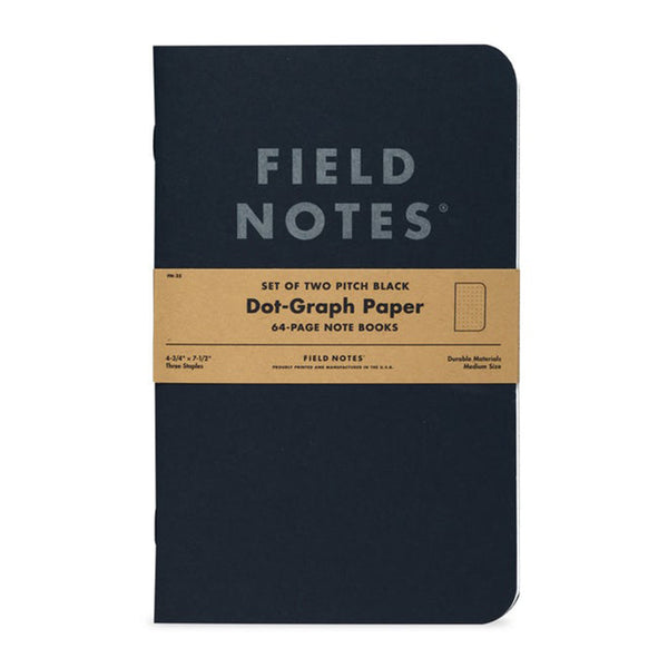 Pitch Black Notebook - 2 Pack