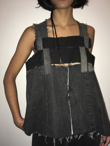 Alexa Stark Woven Denim Tank - FAIRLIGHT NYC