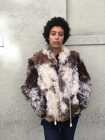 KC Vintage Mongolian Sheepskin Jacket - FAIRLIGHT NYC