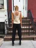 Veda Beige Leather Tank - FAIRLIGHT NYC
