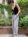 Alix of Bohemia Riley Grey Linen Trouser
