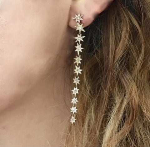 RIMA Rose Gold Vitirol  Star DropEarrings