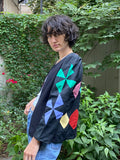 Alix of Bohemia Edie Black Rainbow Quilt Jacket
