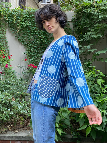 Alix of Bohemia Momo Indigo Stripe Jacket