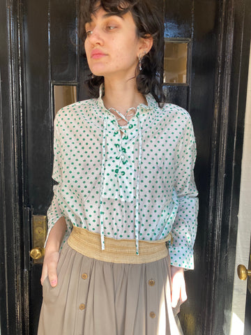 Alix of Bohemia Petit Puis Lace Up Blouse - FAIRLIGHT NYC