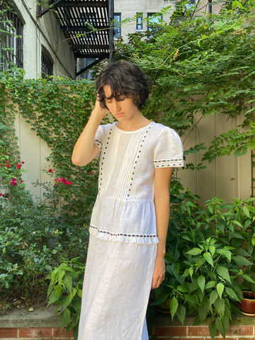 Alix of Bohemia Victoria Linen Dress