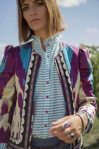 Alix of Bohemia Ultra Violet Ikat Jacket