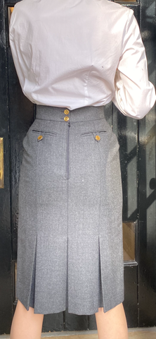 Vintage 1990's Chanel Grey Skirt