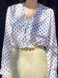 Alix of Bohemia Polka Dot Tie Top