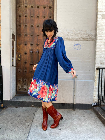 KC Vintage Dress with Bishop Sleeves
