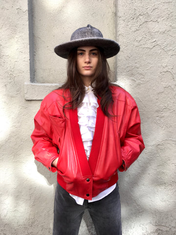 Vintage Claude Montana Red Jacket