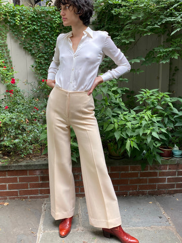 Vintage Hermès Cream Wool Pants