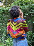 Alix of Bohemia Chevron Ikat Jacket