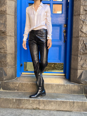 Vintage Christian Dior Leather Pants