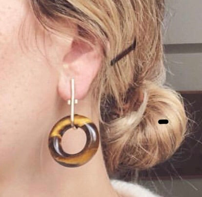 "Mercurial Tiger""s Eye Earrings - FAIRLIGHT NYC"