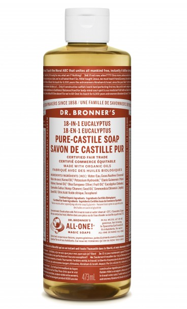 Dr. Bronner's 18-IN-1 PURE CASTILE LIQUID SOAP EUCALYPTUS