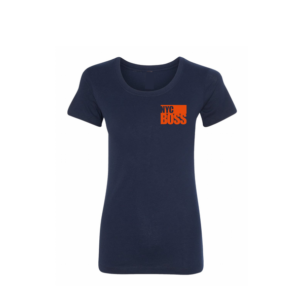 NYCBOSS Juniors Navy Blue T-Shirt