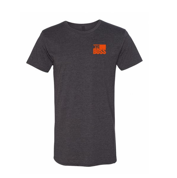 NYCBOSS Mens/Unisex Long Tee Dark Grey