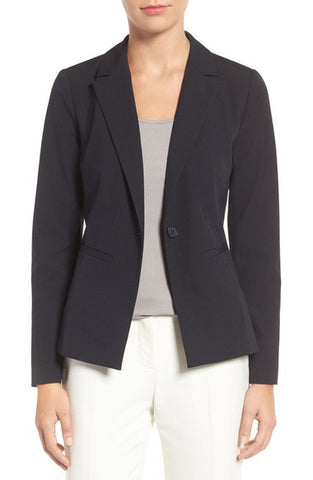 'Ela' One-Button Stretch Suit Jacket