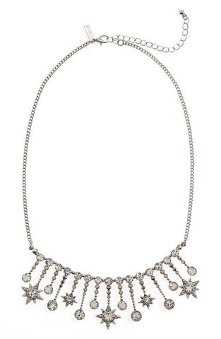 Crystal Star Fringe Necklace