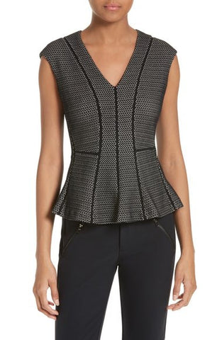 Textured Stretch Peplum Top
