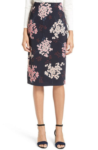 Phlox Print Pencil Skirt