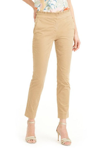 Ruffle Crop Chino Pants