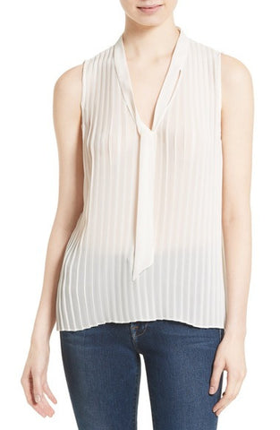 Tie Neck Pleated Blouse