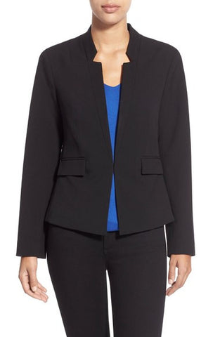 Fitted Reverse Lapel Blazer