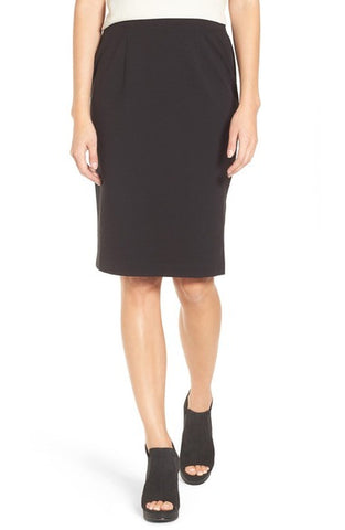 Stretch Ponte Pencil Skirt