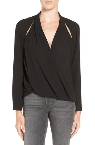 Cutout Surplice Top