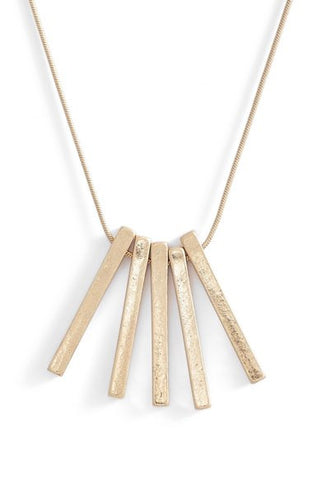 5-Bar Pendant Necklace