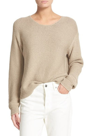 Textured Cotton Pullover