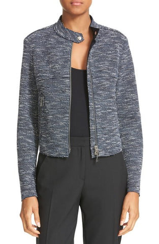 Bavewick K Tweed Zip Front Jacket
